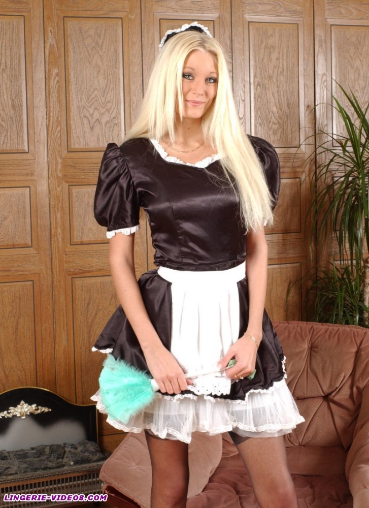 stockings seamed French maid