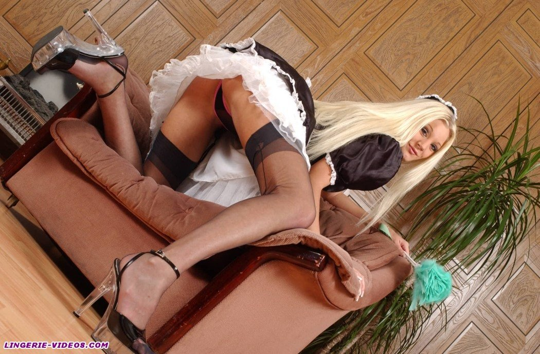 Maid stockings french seamed