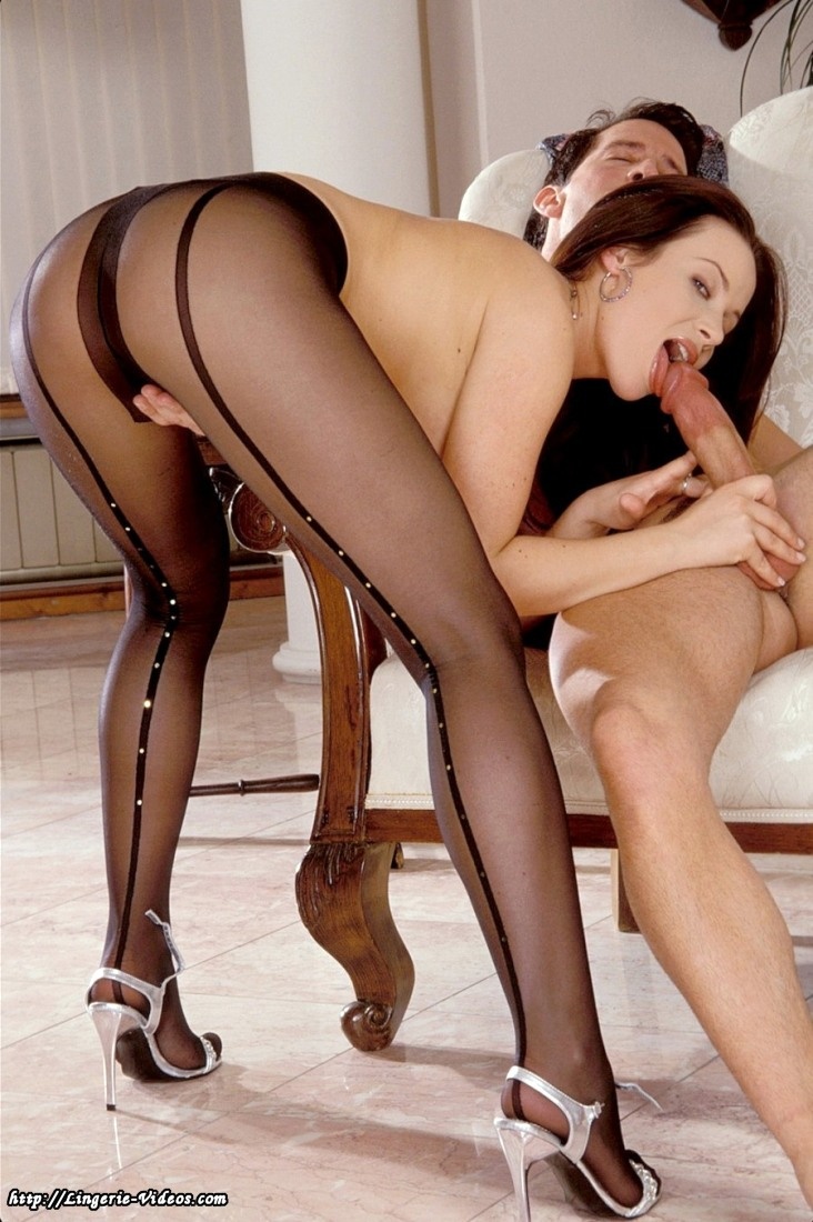 Seamed stockings sex